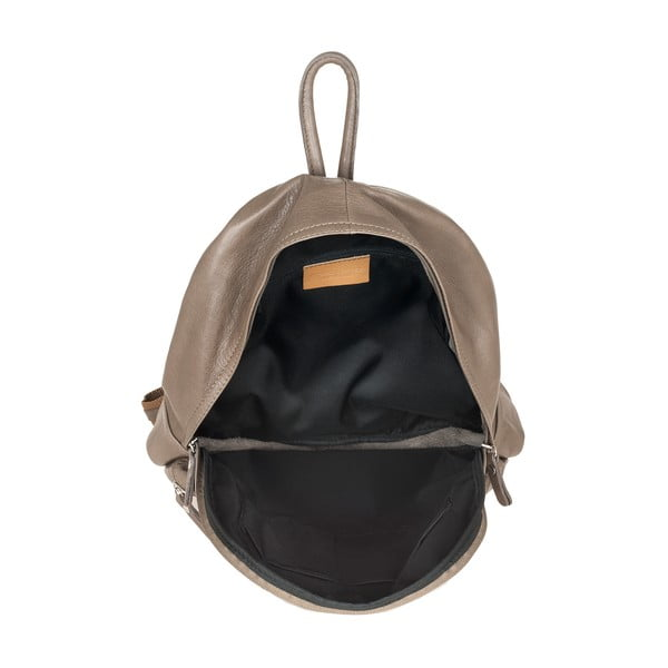 Šedohnědý kožený batoh Ore Diece Rovigo