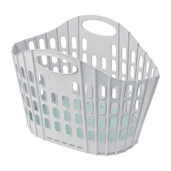 Coș de rufe pliabil Addis Flat Folding Laundry Basket, gri - verde