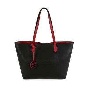 Geantă din piele ecologică Beverly Hills Polo Club Daniela, negru-roșu