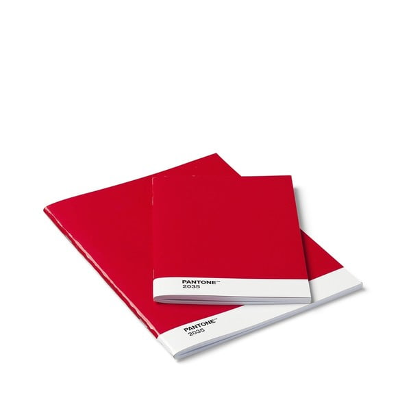 Set 2 caiete Pantone, roșu