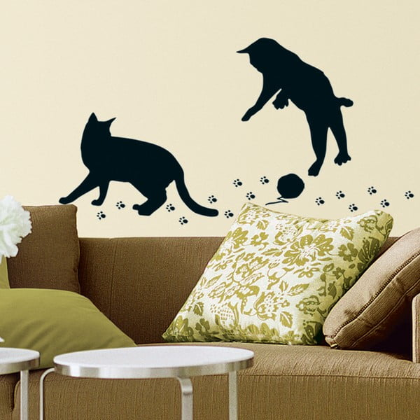 Dekorativní samolepka Kočičky s klubkem