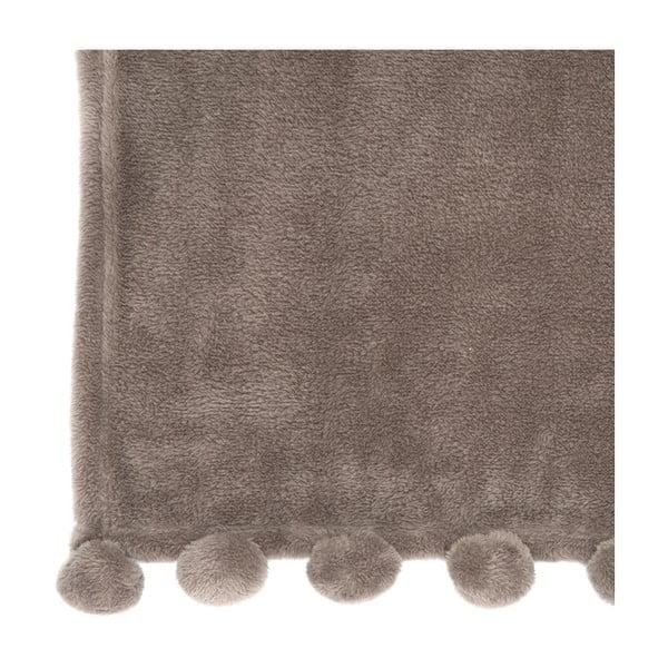 Pléd PomPom 127x152 cm, popelavě hnědý