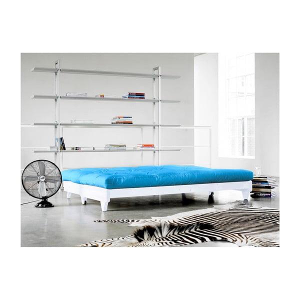 Canapea extensibilă Karup Fresh White/Horizon Blue