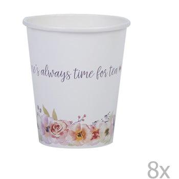 Set 8 pahare de hârtie Neviti Time for Tea