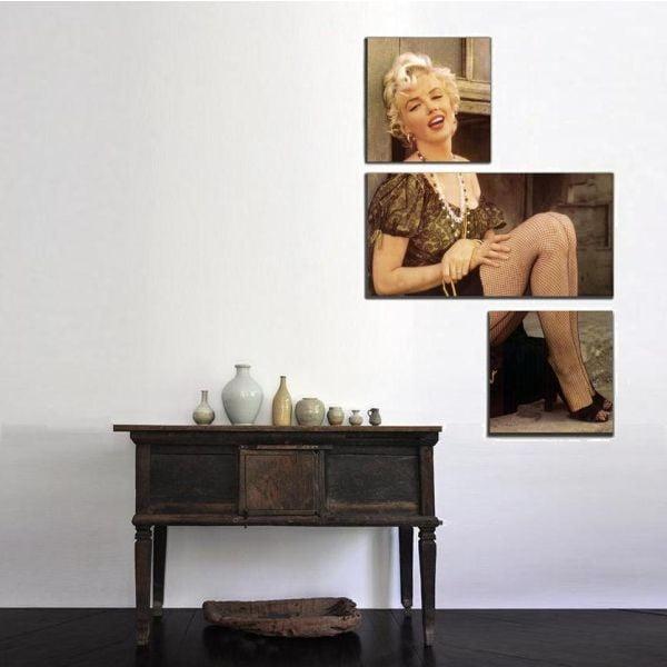 3dílný obraz Asymetric Marilyn, 60x90 cm