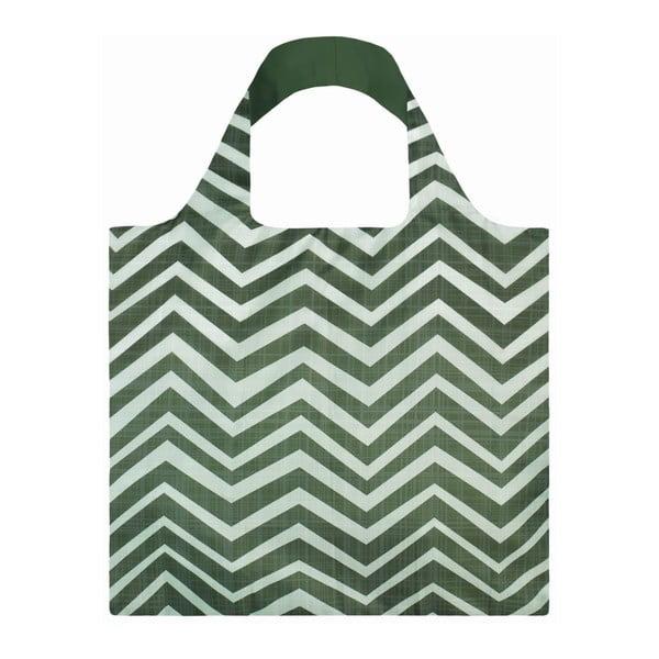 Skládací nákupní taška s kapsičkou LOQI Wood