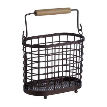 Suport metalic cu mânere din lemn pentru ustensilele de bucătărie Premier Housewares Vertex