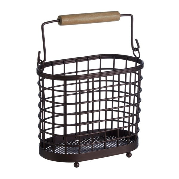 Koszyk żelazny na przybory kuchenne z drewnianym uchwytem Premier Housewares