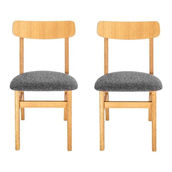 Sada 2 židlí Oslo Oak