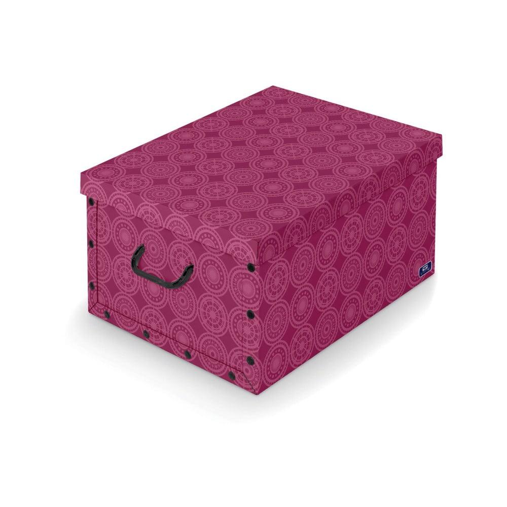 Fialový úložný box Domopak Ella, délka 50 cm