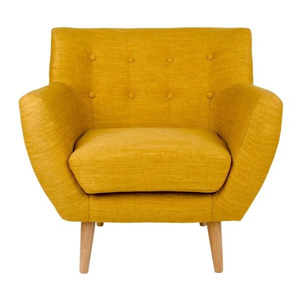 Żółty fotel House Nordic Monte