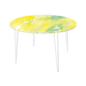 Jídelní stůl Abstract Lemon, 120 cm