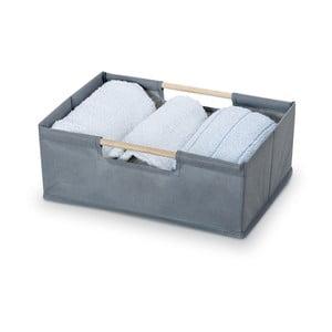 Šedý úložný box Domopak Saket, délka34cm