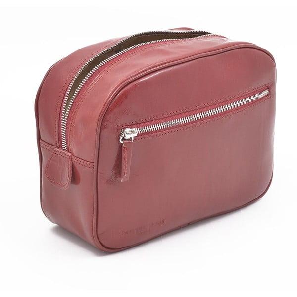 Kožená kosmetická taška Ferruccio Laconi Red