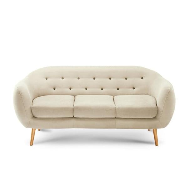 Canapea pentru 3 persoane Scandi by Stella Cadente Maison Constellation, crem