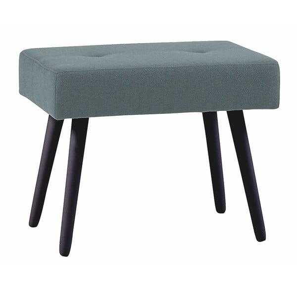 Šedá dubová stolička s černými nohami Folke Hermod