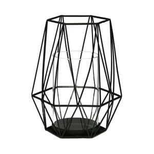 Černý svícen Versa Cage