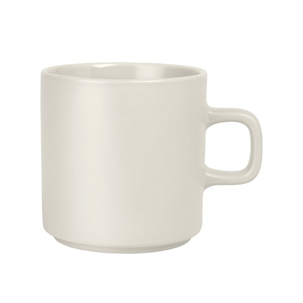 Bílý keramický hrnek na čaj Blomus Pilar,250ml