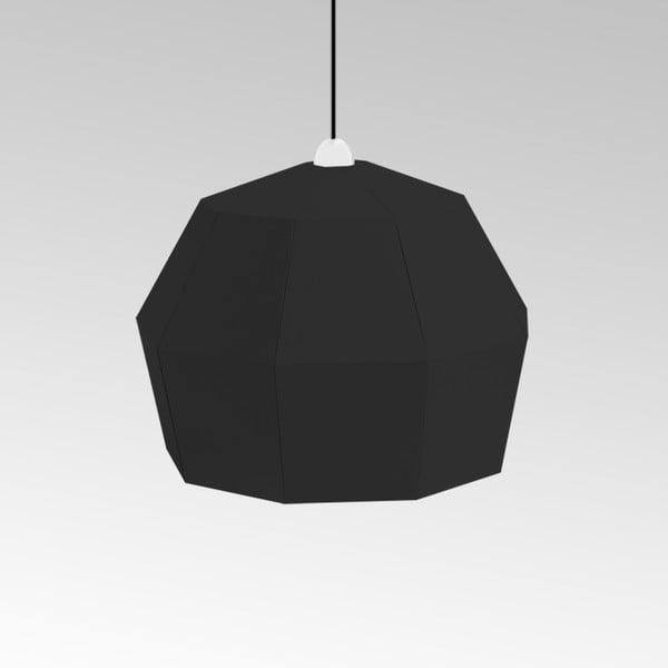 Kartonové svítidlo Uno Fantasia A Black, s černým kabelem