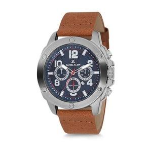 Pánské hodinky s hnědým koženým řemínkem Daniel Klein Elisa