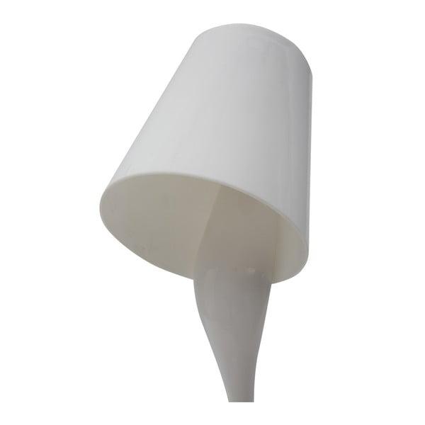 Bílá stolní lampa Mauro Ferretti Glass Bianco, 13x37cm
