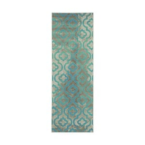 Modrý běhoun Webtappeti Evergreen,70x275cm