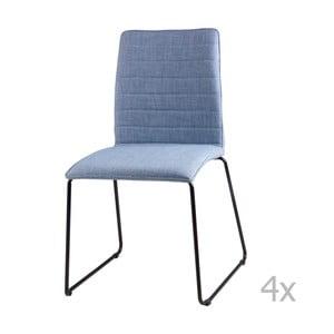 Sada 4 světle modrých jídelních židlí sømcasa Vera