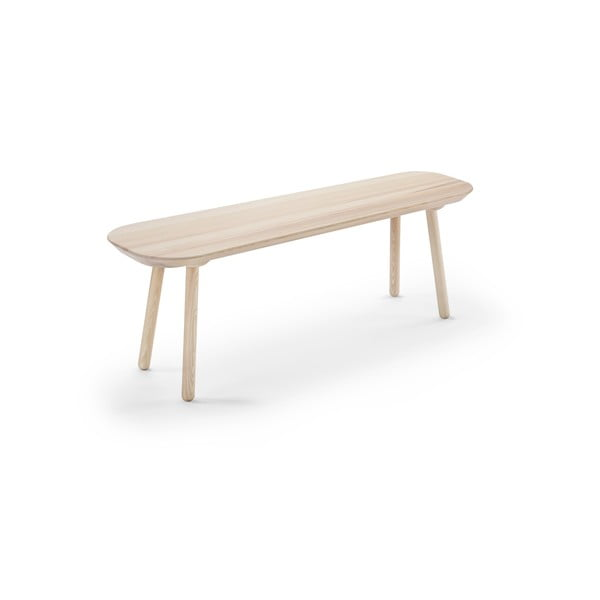 Bancă din lemn de frasin EMKO Naïve, 140 cm, natural