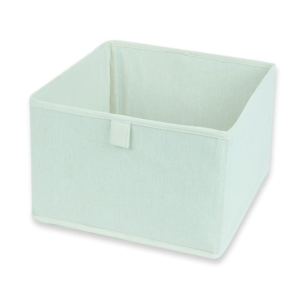Bílý textilní úložný box Jocca, 28 x 28 cm