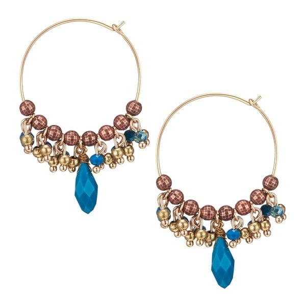 Dámské kruhové náušnice ve zlaté barvě Tassioni Esmeralda