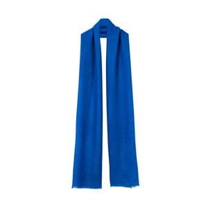 Modrá kašmírová šála Bel cashmere Julia, 200x67cm