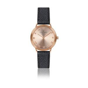 Dámské hodinky s černým páskem z pravé kůže Frederic Graff Mandy