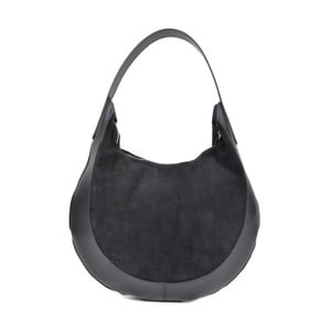 Černá kožená kabelka Isabella Rhea Moon Nero