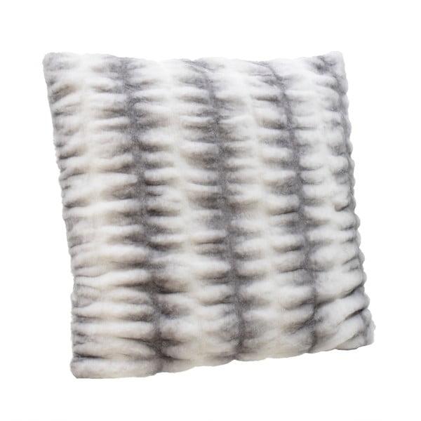Pernă InArt Furry, 60x60cm, alb - gri