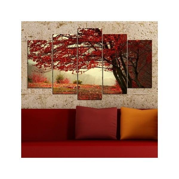 5dílný obraz Na podzim