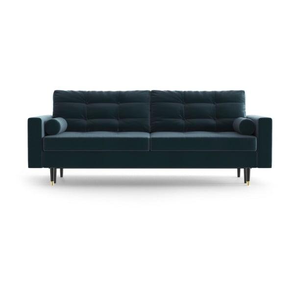 Aldo Turquoise sötéttürkiz háromszemélyes kinyitható kanapé - Daniel Hechter Home