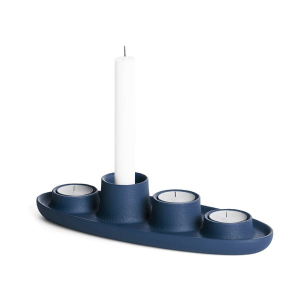 Tmavomodrý svietnik EMKO Aye Aye Four Candles