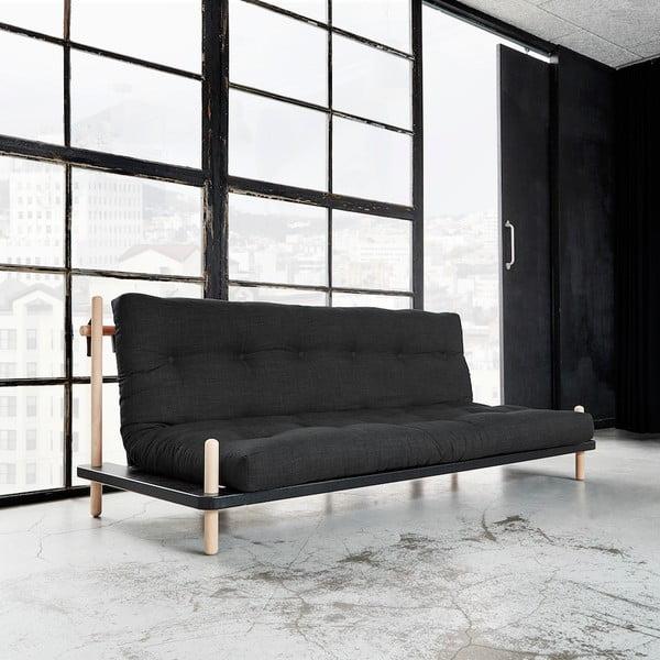 Canapea extensibilă Karup Point, Black/Raw Beech/Dark