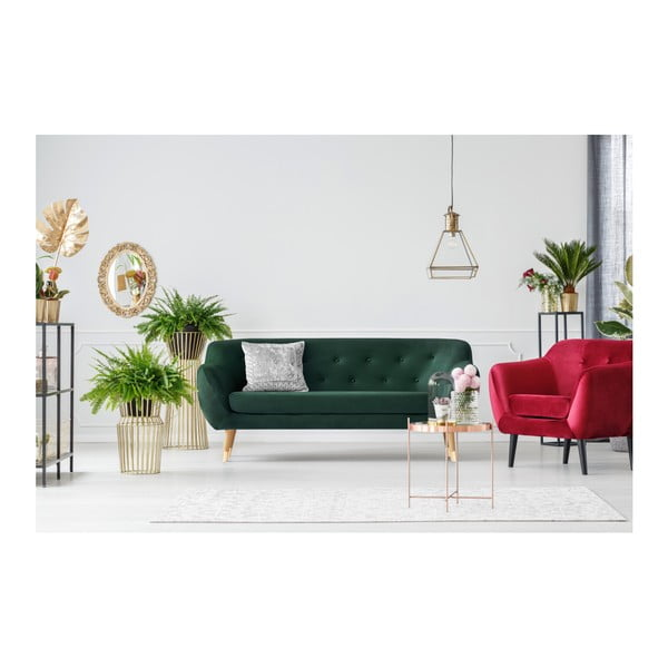 Canapea cu 3 locuri Mazzini Sofas Amelie, verde închis