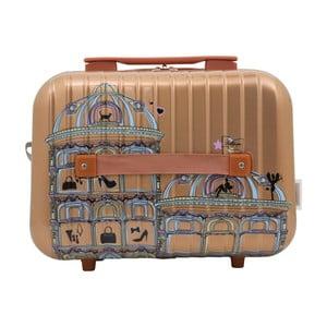 Příruční kufr ve zlaté barvě LULU CASTAGNETTE Town, 17l