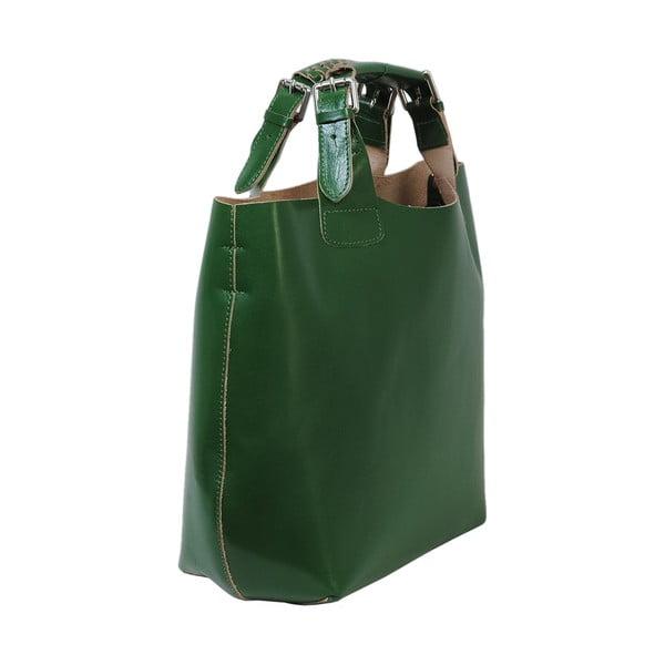 Zelená kabelka z pravé kůže Andrea Cardone Edoardo