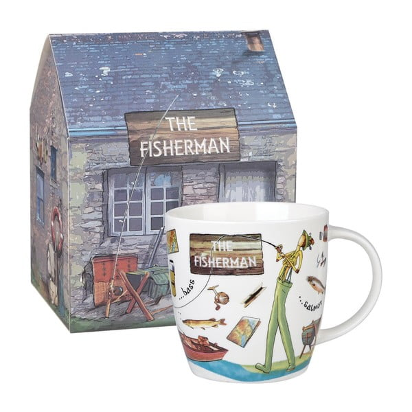 Fishermen csontporcelán bögre, 400 ml - Churchill China