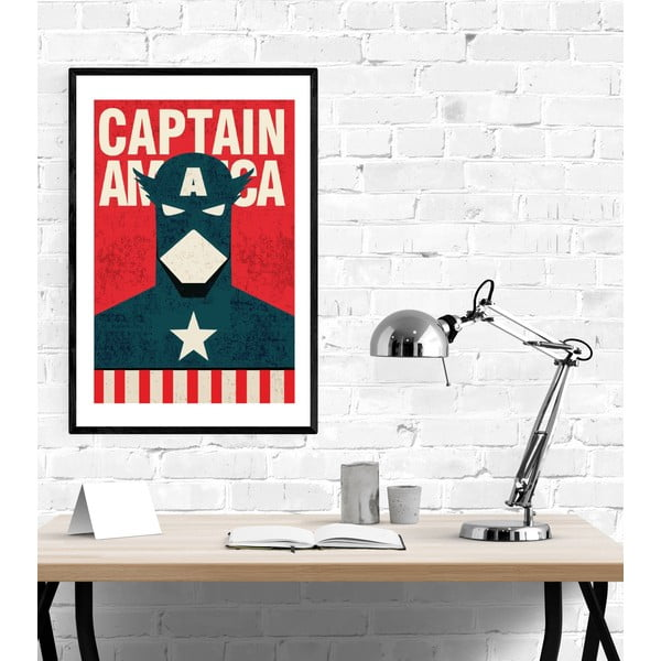 Poster Blue-Shaker Super Heroes Captain America, 30 x 40 cm
