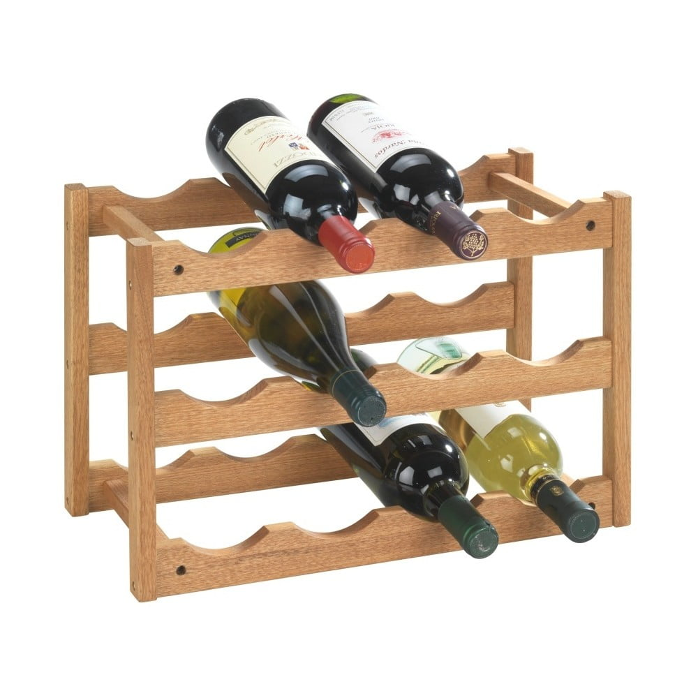Produktové foto Stojan 12 lahví vín z ořechového dřeva Wenko Norway