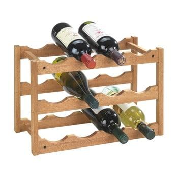 Suport din lemn de nuc pentru 12 sticle Wenko Norway imagine