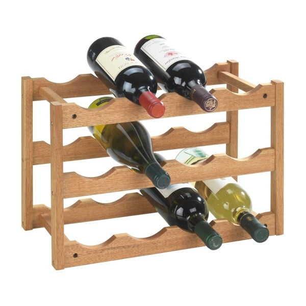 Stojan 12 fliaš vína z orechového dreva Wenko Norway
