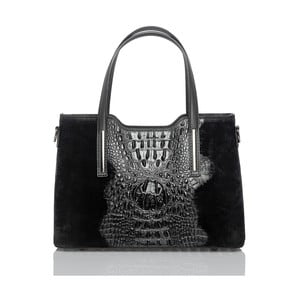 Černá kožená kabelka Glorious Black Murizia
