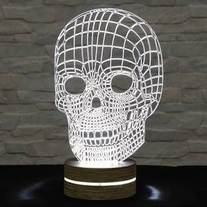 3D stolní lampa Skull