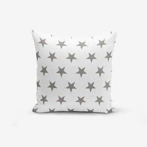 Povlak na polštář s příměsí bavlny Minimalist Cushion Covers Grey Star, 45 x 45 cm