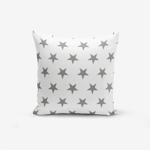 Față de pernă cu amestec din bumbac Minimalist Cushion Covers Grey Star, 45 x 45 cm